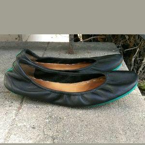 TIEKS By Gavrielli Matte Black Leather Flats Shoes